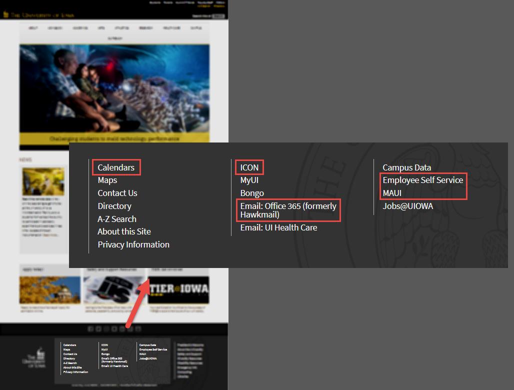 UI Homepage
